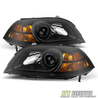 Acura Mdx Headlight Replacement (Black 2004 2005 2006 Acura MDX Replacement Headlights Headlamps Front Left+Right )