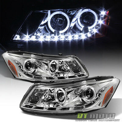 For 2008-2012 Honda Accord Sedan Projector Headlights w/LED DRL Running -