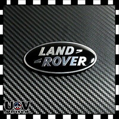 Fit Range Rover Land Rover Gloss Black 3M Hood Trunk Tailgate Emblem Oval Badge
