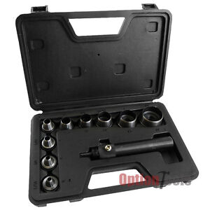 11 Pc Heavy Duty Hollow Punch Kit W/Case Tool Set Gasket Leather Rubber + Case