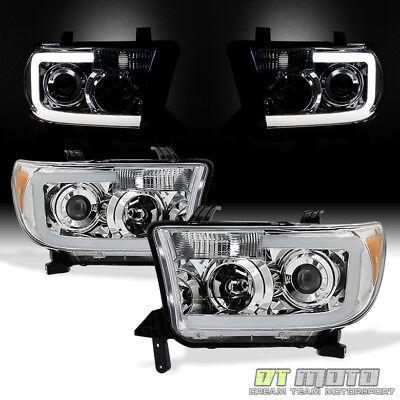 - For 2007-2013 Toyota Tundra Pickup 08-17 Sequoia LED Tube Headlights Headlamps