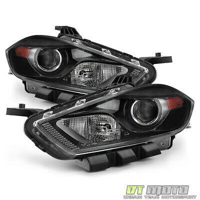2013-2016 Dodge Dart Headlights Headlamp Left+Right Xenon HID Fit Only 13-16