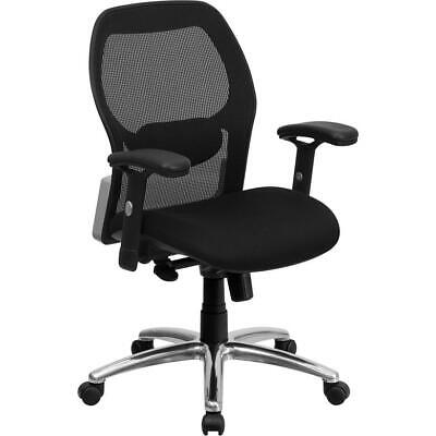 Office Chair With Knee Tilt Control And Adjustable Lumbar Arms