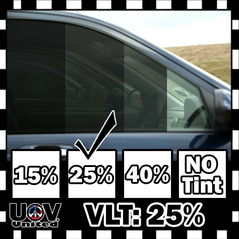 Vlt 25 30 60 5 ft feet office car home commercial uncut for 5 percent window tint