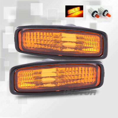 For 1996 1997 Honda Accord Lx/Dx/Ex Amber Side Marker Signal Lights+Light Bulbs