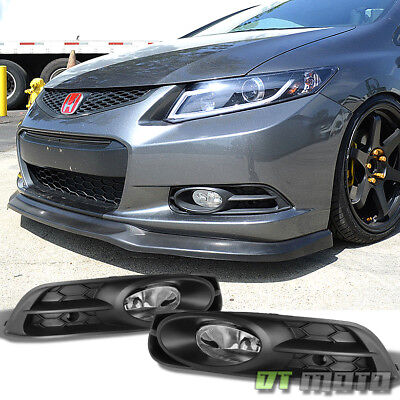 For 2012-2013 Honda Civic Coupe Bumper Driving Fog Lights Lamps w/Harness+Switch