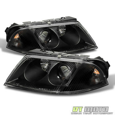 - Black 01-05 VW Passat Projector Headlights Pair Left+Right Replacement 2001-2005