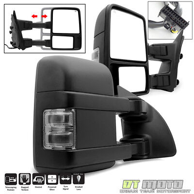 SMOKE Left+Right 2008-2016 Ford F250 Super Duty Power Heated Signal Tow Mirrors