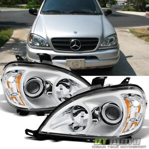 1998-2005 Mercedes-Benz W163 ML320 ML430 Halogen Headlights Headlamps Left+Right