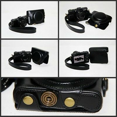 BLACK  leather case bag for Sony DSC-RX100 II RX100II RX100 M2 RX100MK2 New