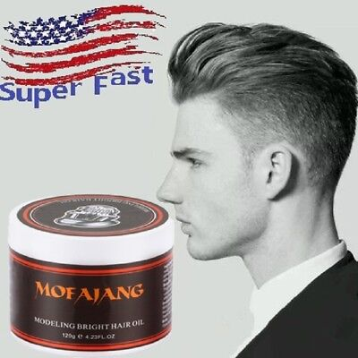 Mens Hair Styling Oil Wax Hair Gel Hair Retro Modeling Strong Hold Pomade