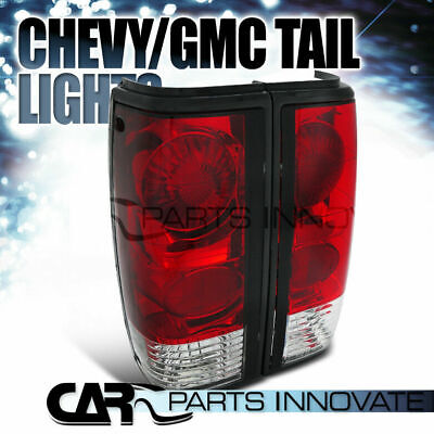 82-93 Chevy S10 Blazer 83-90 GMC S15 Sonoma Red Clear Tail Lights Brake Lamps