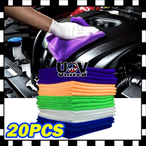20PC Pack Microfiber Cleaning Cloth Towel No-Scratch Rag Car Polishing Detailing