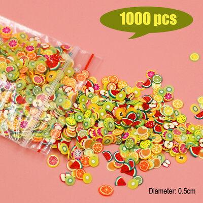 1000 Dollhouse Miniature Assorted Fruit Slices Food DIY Fimo Nail Art Craft 1/12