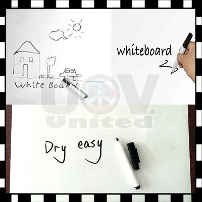 Dry Erase Stickers - Coavas Removable Whiteboard Sticker Dry Erase Whiteboard Wall Decal Peel Stick Z