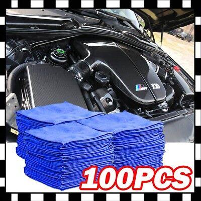 100 PCS Microfiber Cleaning Cloth Towel No-Scratch Rag Car Polishing Detailing