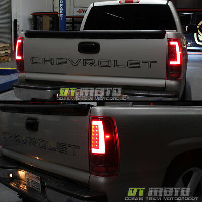 07 Chevrolet Silverado 1500 Light - Black 2003-2006 Chevy Silverado 1500 LED [Light Bar] Tail Lights Lamp Set 03-06