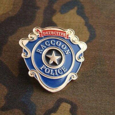 RACCOON CITY POLICE DETECTIVE SHIRT LAPEL BADGE PIN INSIGNIA
