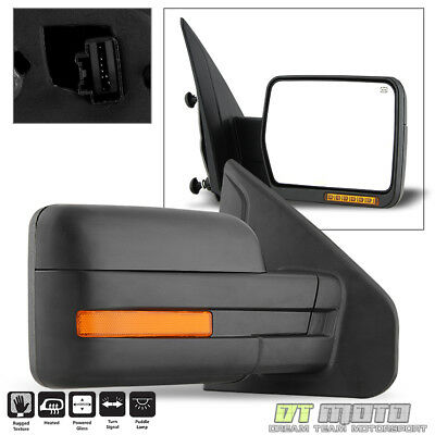 2007-2014 Ford F150 Power+Heated+LED Signal+Puddle View Mirror Right Passenger