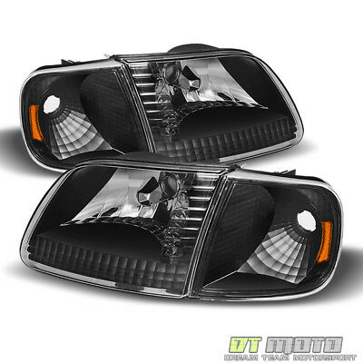 Blk 1997-2003 Ford F150 Expedition Headlights+Signal Lights Corner Lamps 4PC Set 02 Ford Expedition Corner