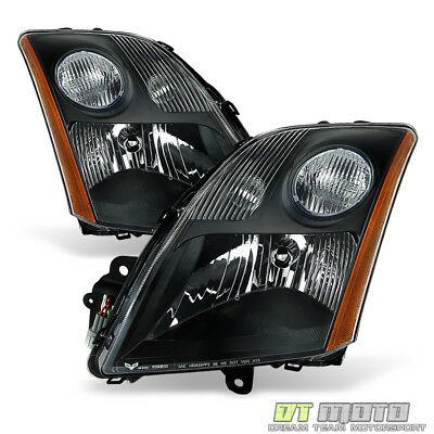 All Black For 2007 2009 Sentra Headlights Lights Aftermarket LeftRight 07 08 09