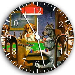 The Dogs Play Poker Frameless Borderless Wall Clock Nice For Gifts or Decor Z40