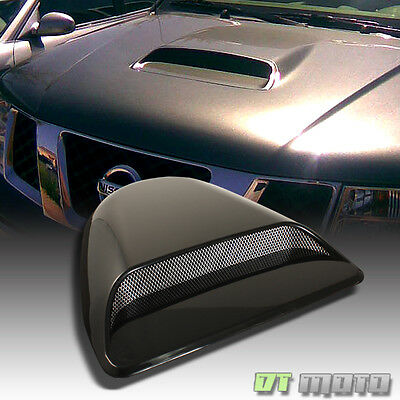 Black Air Flow Evolution Style Hood Scoop Vent Cover Ready To Paint All Vehicle