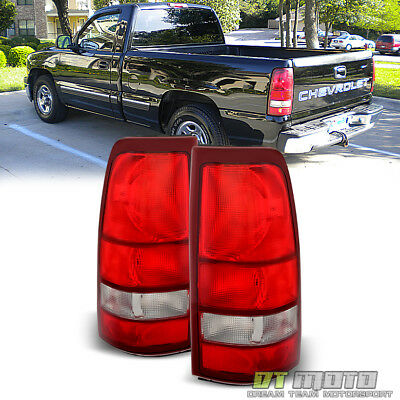 1999 2002 Chevy Silverado 1500 99 06 GMC Sierra Red Tail Lights Lamps LeftRight