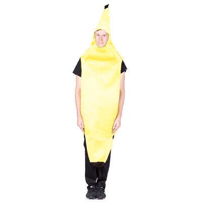 Banana Costume Adult Mens Womens Comical Humorous Funny Food Cosplay - Banana Man Costume