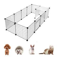 14 Panel Metal Pet Playpen Dog Puppy Cat Rabbit Exercise Fence Yard Kennel DIY