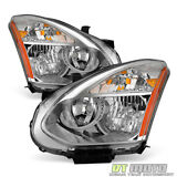 For 2008-2013 Rogue Headlights Headlamps Replacement [Halogen Model] Left+Right