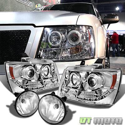 2007-2014 Suburban Tahoe 07-13 Avalanche Halo Projector Headlights +Fog Lights