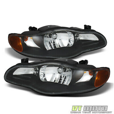 Blk 2000-2005 Chevy Monte Carlo Replacement Headlights Headlamps Pair Left+Right Monte Carlo Right Headlight
