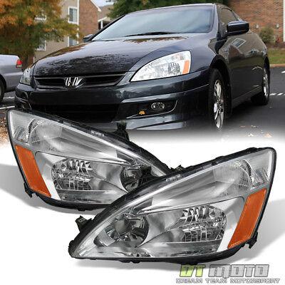 2007 Honda Accord 4dr Sedan (For 2003-2007 Honda Accord 2/4Dr Sedan Coupe Headlights Headlamps)