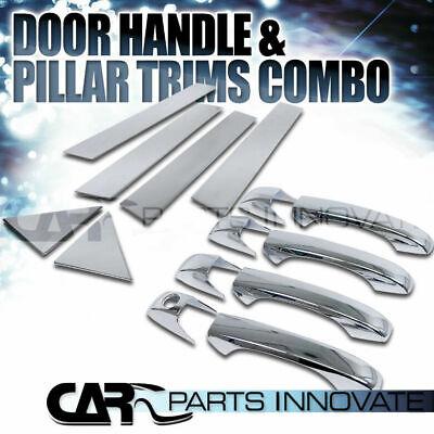 For 05-10 Chrysler 300 05-08 Dodge Magnum Door Handle+Pillar Post Covers Trim