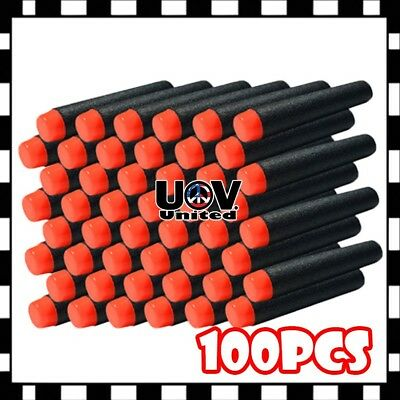 100PCS 7.3cm Refill Bullet Darts for Nerf toy Gun N-strike Elite Series Black z