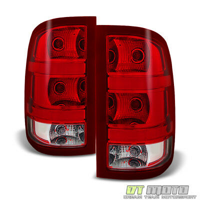 - [Plug & Play] 2007-2013 GMC Sierra 1500 2500 3500HD Tail Lights Lamps Left+Right