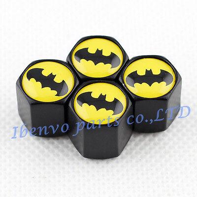 Black Styling Metal Car Wheel Tyre Tire Stem Air Valve Cap For Batman Auto Style