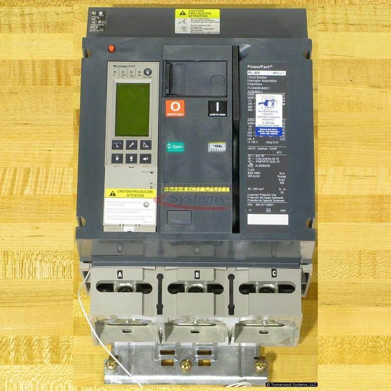 Square D Pla34040u64ce1acbdmalv Circuit Breaker, 400 Amp, 100 Kair, I-line, New!