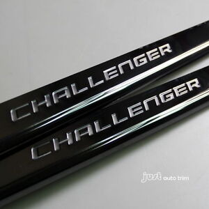 08-15 DODGE challenger LOGO Black Anodized STAINLESS STEEL DOOR SILL SILL GUARDS