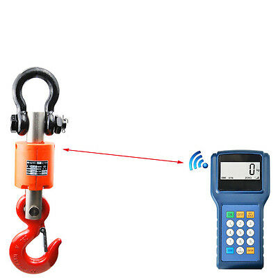 3T/5T/10T Electronic Wireless Digital Hanging Crane Scale W/ Handheld Meter