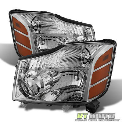 Fits 2004 2015 Titan 04 07 Armada Replacement Headlights Pair LeftRight 04 15