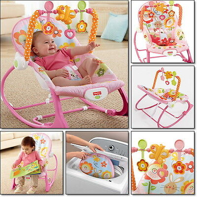 Newborn Rocker Bouncer Seat Baby Infant Chair Sleep Swing Toy Travel Portable