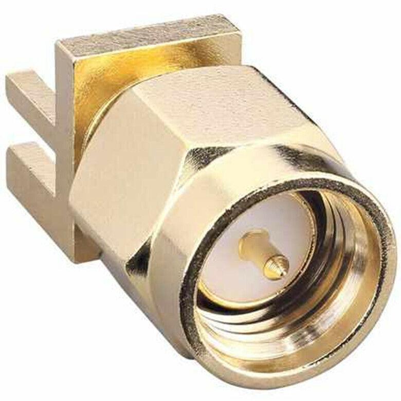 "1PCS RF/Coaxial Connectors CONSMA013.062-G〖 SMA MALE BOARD EDGE MNT 0.062""〗"