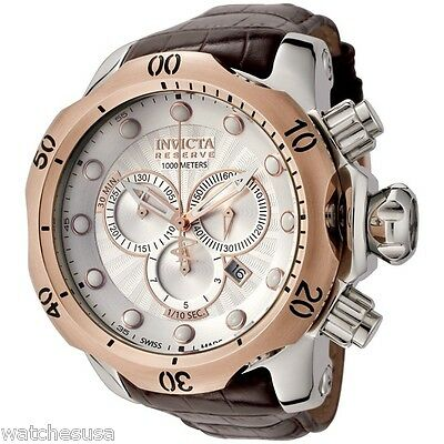 Invicta Men's 0359 Reserve Venom Chronograph Leather Band Quartz Watch