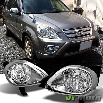 Chrome Fog Light Trim - 05-06 CRV CR-V Chrome Trim Bumper Fog Lights Lamp w/Switch Replacement 2005-2006
