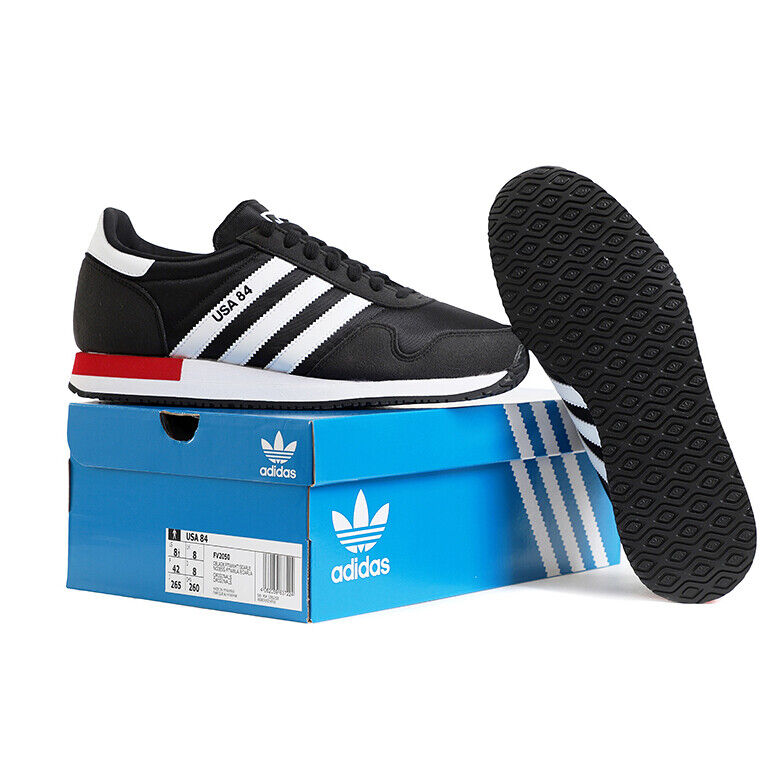 Adidas USA 84 Men's Running Shoes Training Casual Black FV2050 | eBay