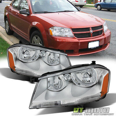 2008 2014 Dodge Avenger SXT SE Replacement Headlights Headlamps 08 14 LeftRight