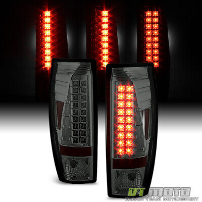 Smoked 2002-2006 Chevy Avalanche 1500 2500 Pickup Lumileds LED Tail Lights Lamps