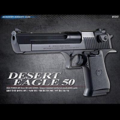 Academy Korea Desert Eagle 50 Black Airsoft Pistol BB Replica Hand Toy Gun 6mm comprar usado  Enviando para Brazil